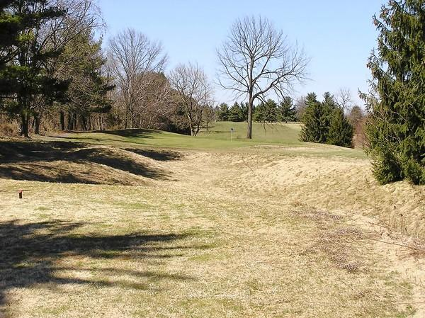 The first hole at Indian Creek Golf Course is a par-3. The Emmaus course reopened its driving range and front nine this month after a lengthy closure.