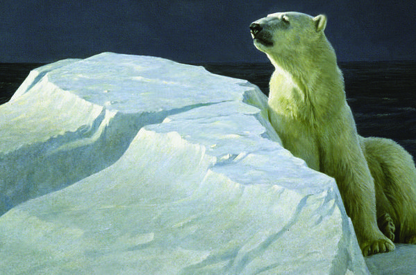 "The works of artist Robert Bateman, whose ""Long Light -- Polar Bear,"" is pictured above, will be on display in a new gallery in Victoria, Canada."