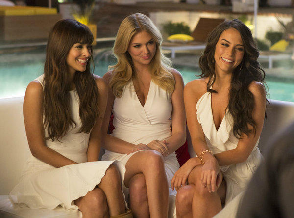 "From left, Hannah Simone, Kate Upton and Genesis Rodriguez in Gillette's new ""What Women Want"" campaign, which will culminate in a live interactive webcast on April 18."