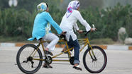 "For those of you who missed it, on April 1, Saudi authorities -- unnamed -- lifted a ban on women riding bikes -- but only if they ""wear a full-body abaya, be accompanied by a male relative and stay within certain areas. They are allowed to bike for recreational purposes only, not as a primary mode of transportation,"" <a href=""http://stream.aljazeera.com/story/201304022007-0022651"" target=""_blank"">according to Al-Jazeera</a>. Some on Twitter were unimpressed -- or thought it was an April Fools' joke. I've never thought Saudi clerics were big on those kinds of jokes, though -- if they even knew it was April Fools' Day at all. So, progress?"
