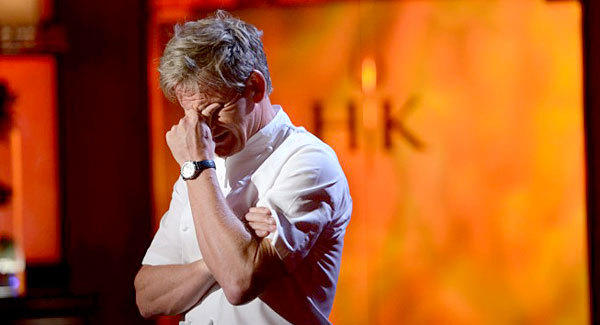 "Chef Gordon Ramsay is not pleased on this week's episode of ""Hell's Kitchen,"" where diners were nearly served raw pork."