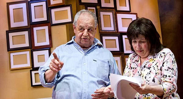 Winnie Holzman and her husband Paul Dooley rehearsing their new play at Odyssey Theatre Ensemble.