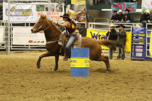 Calley Worth of Northern State competed in the 59th annual Jackrabbit Stampede last weekend in Brookings.
