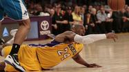 The Lakers (41-37) muscled out a win on Tuesday night at Staples Center with a 104-96 victory over the New Orleans Hornets.
