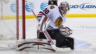 <strong>No, no, no, you people have it all wrong.</strong> You're using the wrong description. The Blackhawks do not have a goalie controversy. They have a goalie competition.