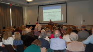 Over 100 senior citizens and others attended a workshop on successful aging presented by The Center of Concern at the Des Plaines Public Library on March 28.  The Center of Concern is a Park Ridge not-for-profit that serves the elderly.