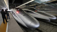 As Gov. Jerry Brown seeks to build California's own high-speed rail system, he's pointed to the example set by China, where 5,000 miles of track have been laid in recent years. During his visit there this week, he will ride one of those bullet trains from Beijing to Shanghai.