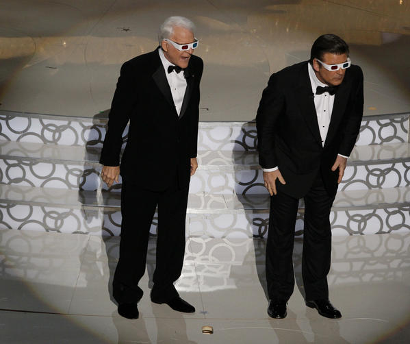 Steve Martin, left, and Alex Baldwin at the 82nd Annual Academy Awards at the Kodak Theatre in Hollywood.