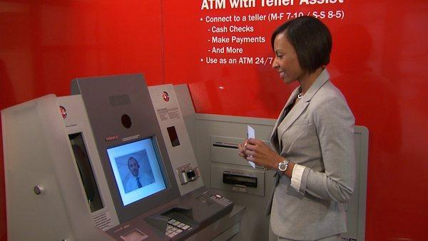 Bank of America is rolling out automated teller machines that allow customers to video chat with real tellers outside of normal banking hours.