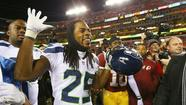 "Seattle Seahawks cornerback Richard Sherman says ""about half"" the players in the NFL use the banned prescription drug Adderall. That's a lot of players."