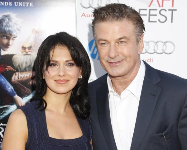 Actor Alec Baldwin (here with wife Hilaria Thomas) may get an NBC talk show.