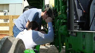 If a farmer's tractor is broken or an engine needs rebuilding, can you help repair it?