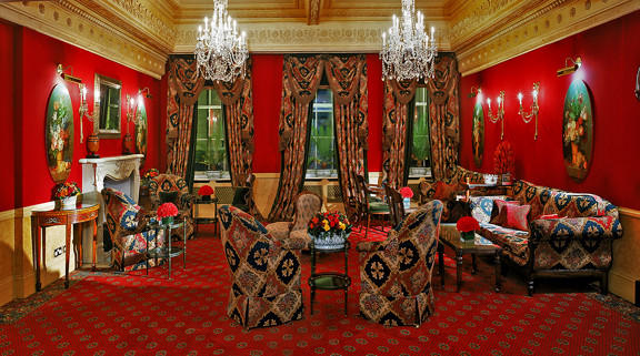 Museum-goers can rest their weary feet in the Lounge at the Montague on the Gardens Hotel in London.