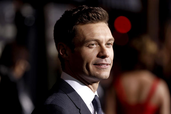 "Ryan Seacrest arrives at the premiere of ""New Year's Eve."""