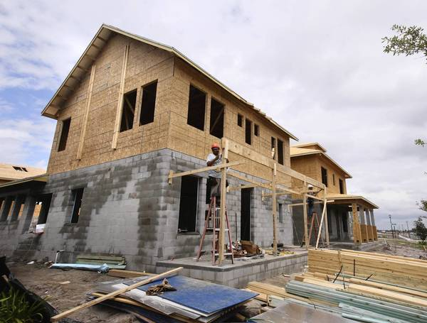 New-home construction at Lake Nona's Laureate Park, just east of the new VA Center.