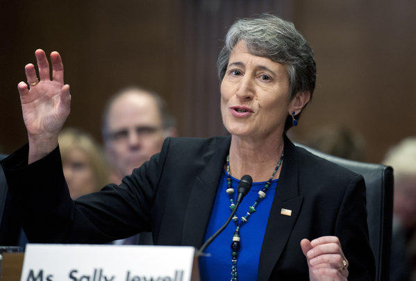 Sally Jewell during her confirmation hearing.
