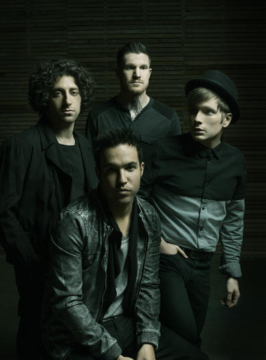 Patrick Stump (right) and the rest of Fall Out Boy