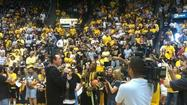 Wichita State's Final Four men's basketball team were recognized during a ceremony Monday night.  The free celebration was held at Charles Koch Arena.
