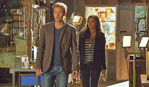 "Matt Davis and Jessica Lucas star in ""Cult."""