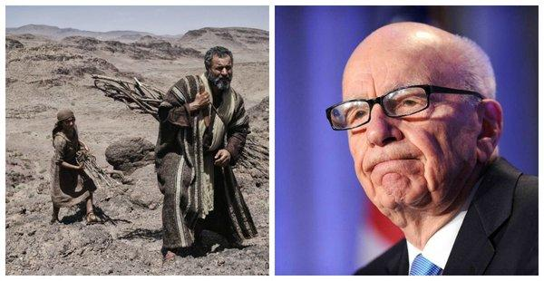 "News Corp. CEO Rupert Murdoch, right, wanted the miniseries ""The Bible"" for the Fox News Channel."