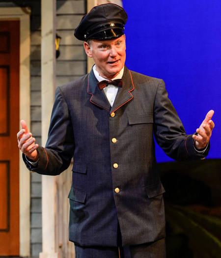 "USC Athletic Director Pat Haden, plays the part of Postman No. 2 in the spring musical ""The Most Happy Fella."""
