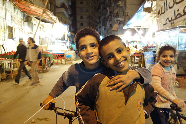 Photos: Shopping in Cairo - Children everywhere are ready to steal your heart with a warm and gentle smile.