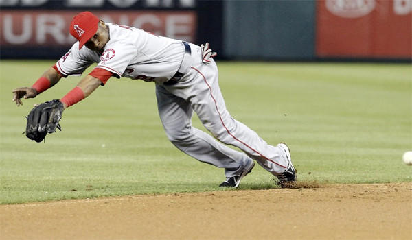 Angels shortstop Erick Aybar could be headed to the disabled list because of a left-heel contusion.