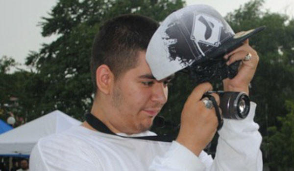 Jaime Ruvalcaba at a festival at Dvorak Park, 1119 W Cullerton St., in 2011, while working as part of a youth journalism program. Jaime was shot to death Aug. 21, 2012, and a suspect in his slaying was arrested April 12 in Los Angeles, authorities said.