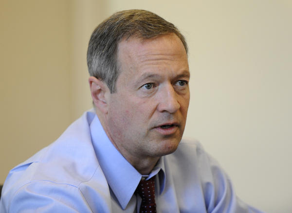Gov. Martin O'Malley addresses The Baltimore Sun's editorial board.