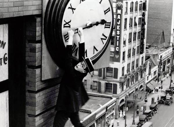 "Harold Lloyd stars in ""Safety Last!"""