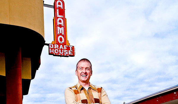 Tim League, Alamo Drafthouse Founder and CEO, outside of the Alamo Drafthouse South Lamar location in Austin, TX.