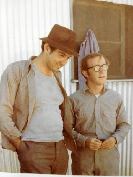 Mickey Rose, left, is shown with Woody Allen. They met in a high school art class.
