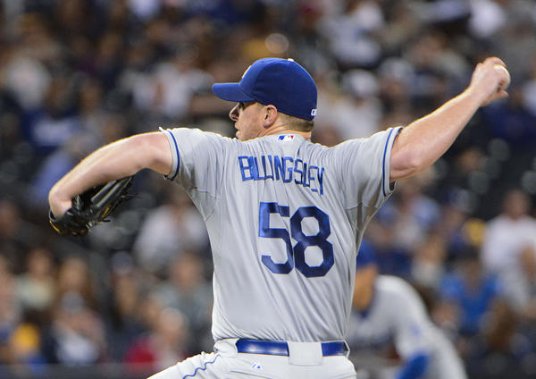 Dodgers starting pitcher Chad Billingsley.