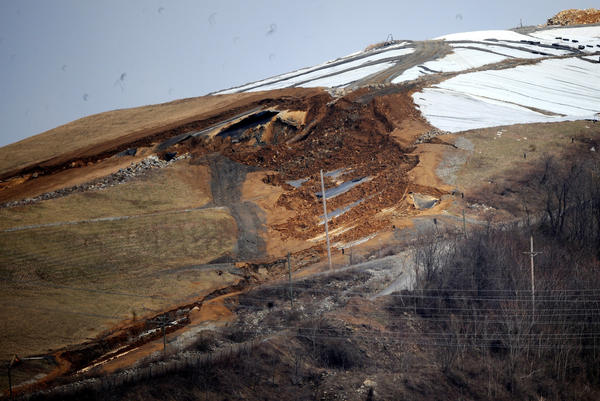 The state Department of Environmental says it could be 60 to 90 days before they know what caused a landslide at the Chrin landfill.