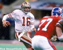<b>Super Bowl XXIV<br>San Francisco 55, Denver 10</b><br> Louisiana Superdome<br> New Orleans, La.<br> Jan. 28, 1990<br> <br> <b>MVP</b>: Joe Montana, QB - San Francisco<br> <br> The 49ers dominated the Broncos 55-10 to win the franchise's fourth championship in Super Bowl XXIV. Joe Montana picked up his record third MVP award after passing for 297 yards and a record five touchdowns.