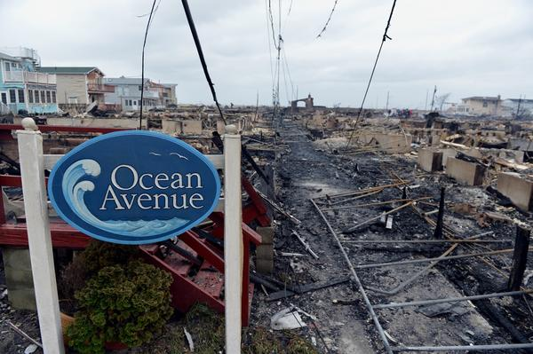 Damage is seen in the Breezy Point area of Queens in New York after fire destroyed about 80 homes as a result of Hurricane Sandy, which hit the area.