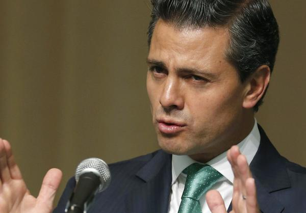 Mexico's President Enrique Pea Nieto speaks during a lecture at United Nations University in Tokyo on Tuesday.