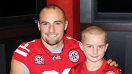 Rex Burkhead, the grandson of four Winchester residents may be a star to Nebraska Cornhuskers fans, but to a little boy named Jack Hoffman, he is a hero.