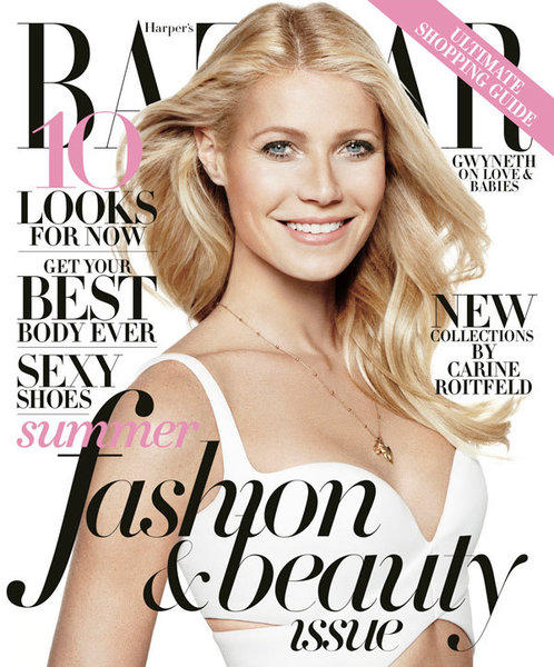 Gwyneth Paltrow on the May 2013 cover of Harper's Bazaar.