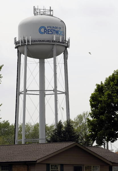 Water tower on East Playfield Drive in Crestwood.