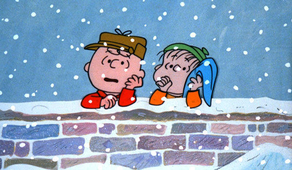 "Charlie Brown, left, and Linus in ""A Charlie Brown Christmas."""