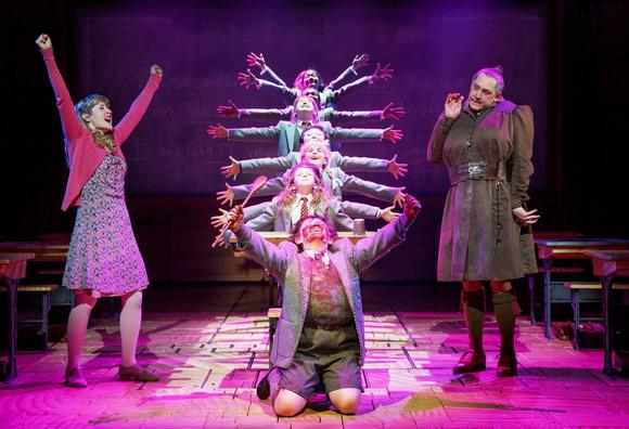 "The Broadway cast of ""Matilda the Musical."""
