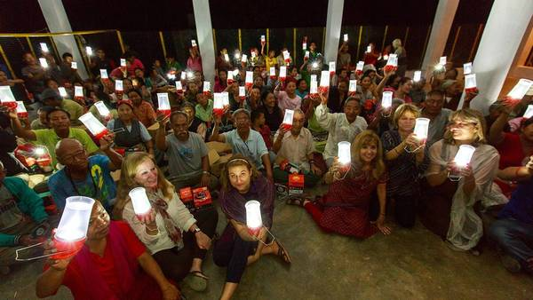 Orange County residents brought solar lights to people in India earlier this year.