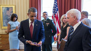 President Barack Obama gave the highest honor to a Kansas war hero Thursday.  The family of Father Emil Kapaun was at the White House to accept his Medal of Honor.
