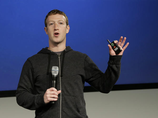 Facebook CEO Mark Zuckerberg speaks at Facebook headquarters in Menlo Park.