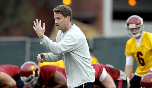 Lane Kiffin has become more involved with a greater number of players and given up some of the play-calling duties, following a disappointing 7-6 season for USC last year.