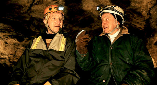"Sam Stermer and Saul Stermer inside Verteba Cave in ""No Place on Earth,"" a Magnolia Pictures release."