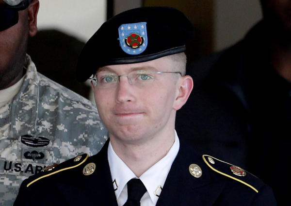 Army Pfc. Bradley Manning, the 25-year-old former intelligence analyst in Iraq, pleaded guilty in February to 10 charges, including possessing classified information and transferring it to an unauthorized person.
