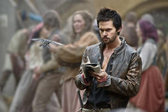 Leonardo da Vinci (Tom Riley) watches birds fly and sketches their wings in order to learn the secrets of flight.