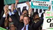 Buoyed by a national tide against Republicans, Mayor Martin O'Malley declared victory in the governor's race last night, appearing to have prevailed in his long and difficult campaign against a popular incumbent. Despite a poor showing in the crucial Baltimore suburbs, Gov. Robert L. Ehrlich Jr. said he will not concede until thousands of absentee ballots are counted.